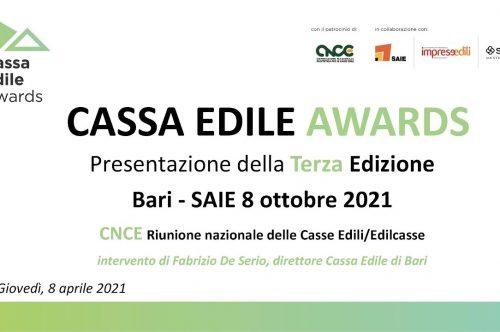 Cassa Edile Awards 2021 – Al Saie di Bari le premiazioni